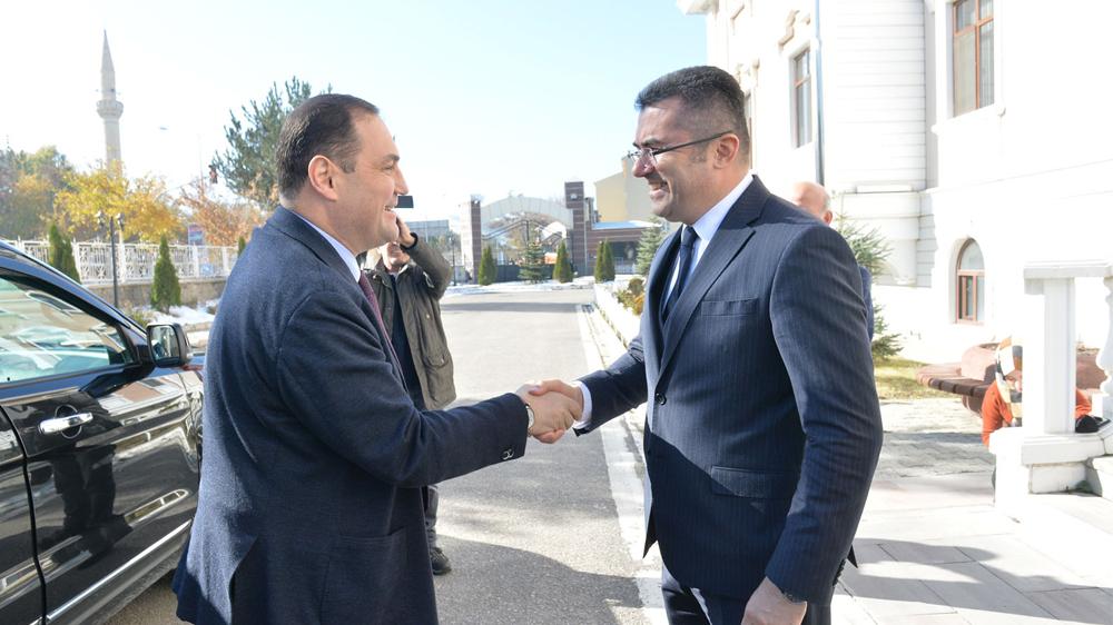 Gürcistan Büyükelçisi Janjgava'dan Vali Memiş'e ziyaret