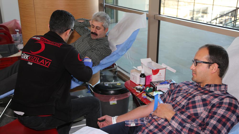 Kampanyaya ilk destek sağlık çalışanlarından geldi