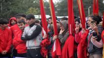 Erzurum'da hafta kutlamalarına yağmur engeli