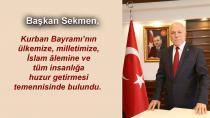 Mehmet Sekmen'den Kurban Bayramı mesajı