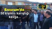 Erzurum'da iftara doğru trafik gerginliği