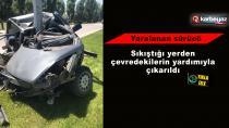 Erzurum'da trafik kazası; 1 yaralı