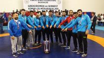 Erzurumlu pehlivanlar Türkiye 3'üncüsü oldu
