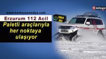 Erzurum 112 Acil tam kadro kışa hazır