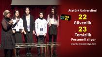 Atatürk Üniversitesi 45 personel alımı için kura çekti