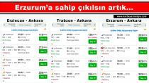 THY'nin Erzurum'a yüksek fiyat uygulaması önlenemiyor