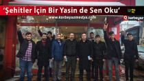 Ülkücüler Erzurum'da esnafa Yasin-i Şerif dağıttı
