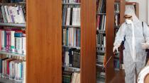 Atatürk ÜniversitesindeKoronavirüs Temizliği Sürüyor