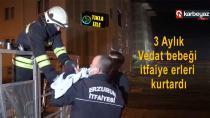 Erzurum TOKİ'de meydana gelen yangın korkuttu